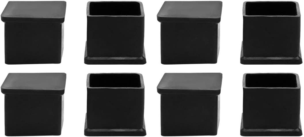 """uxcell Rubber Chair Leg Caps End Pad Feet Cover Furniture Slider Floor Protector 8pcs 1.18"""" x 1.18""""(30x30mm) Inner Size, Reduce Noise Prevent Scratch"""