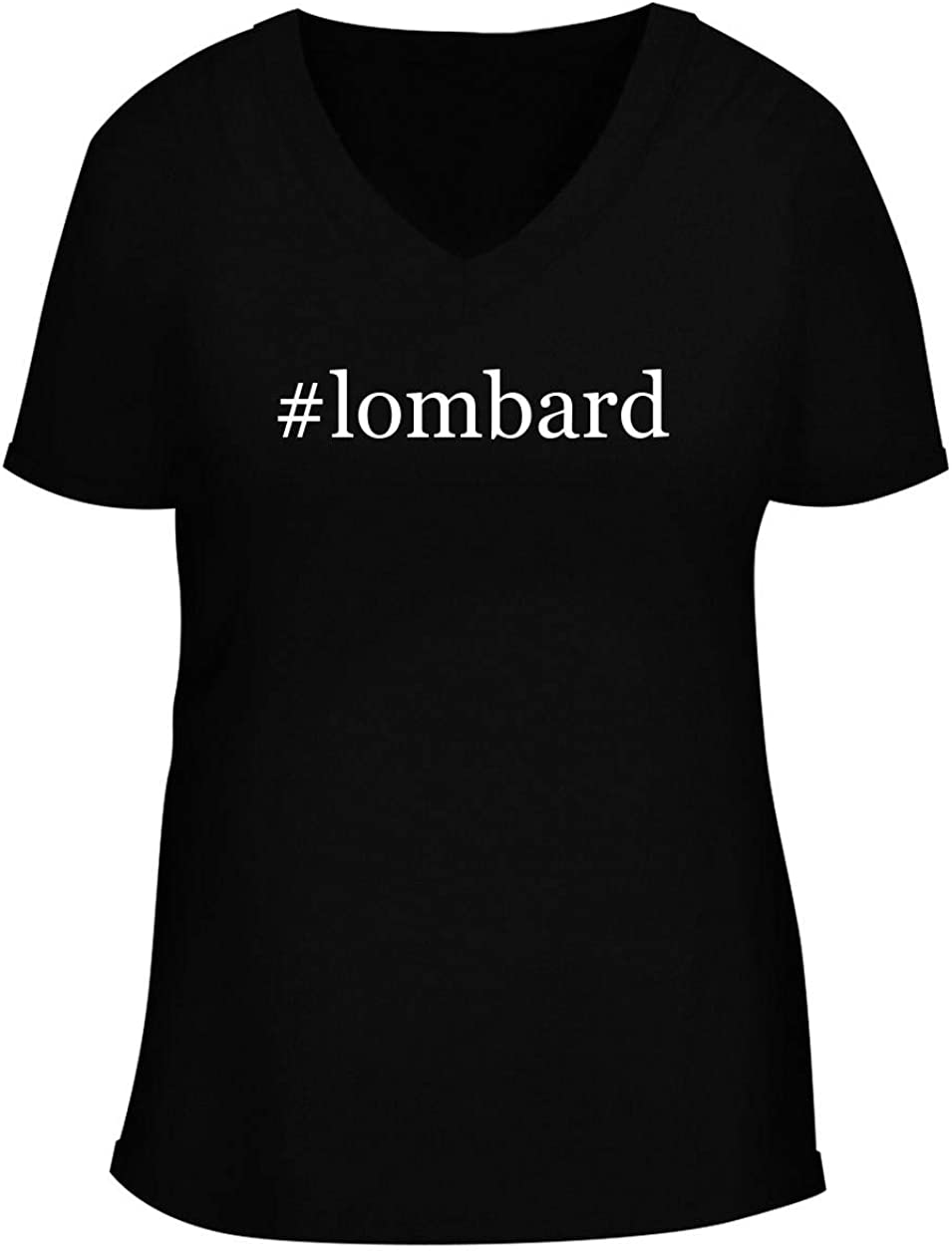 #lombard - Women's Soft & Comfortable Hashtag Deep V-Neck T-Shirt
