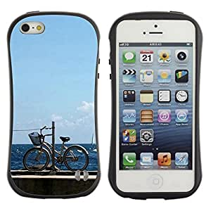 "Hypernova Slim Fit Dual Barniz Protector Caso Case Funda Para Apple iPhone SE / iPhone 5 / iPhone 5S [Naturaleza Hermosa Forrest Verde 113""]"