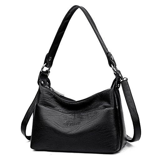 Alovhad Women Leather Crossbody Tote Handbag Messenger Bags for Zipper Multi Purse Shoulder Bag