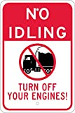 National Marker Corp. M788J No Idling Turn Off Your Engines Sign