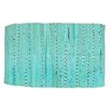 Home Essentials Rag Rug for Kitchen, Bathroom, Entry Way, Laundry Room and Bedroom, 20 X 31.5-Inch, Aqua