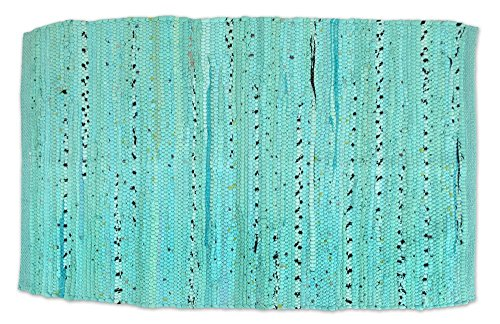 DII Home Essentials Rag Rug for Kitchen, Livingroom, Entry Way, Laundry Room, and Bedroom 20 x 31.5-Inches, Aqua