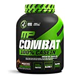 MusclePharm Combat 100% Casein Supplement, Casein Protein Powder, Muscle Supplement, 100% Micellar Casein, Rebuilds Muscle, 28 Grams of Slow-Digesting Protein, Chocolate Milk, 4-Pounds, 52 Servings
