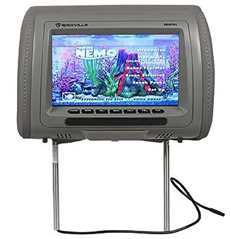 "Pair Rockville Rhp91-gr 9"" Digital Panel Gray Car Headrest Monitors W Speakers 1"