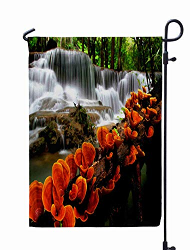 Shorping Welcome Garden Flag, 12x18Inch Orange Waterfalls for Holiday and Seasonal Double-Sided Printing Yards Flags ()