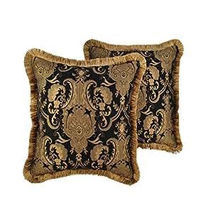 Amazon.com: Sherry Kline China Art Black 20-inch Decorative Polyester Throw Pillows (Set of 2 ...