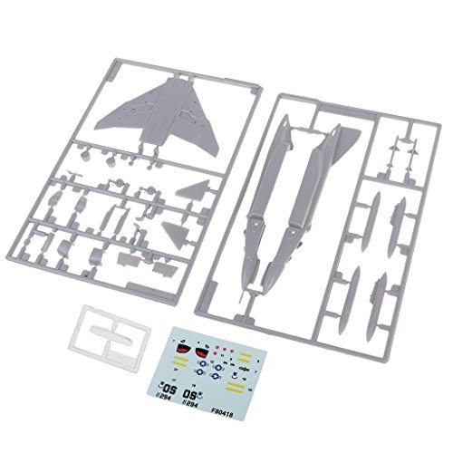 MagiDeal 1:144 Military Aircraft America F-4 Phantom Model Building Kits Plane Gift from Unknown