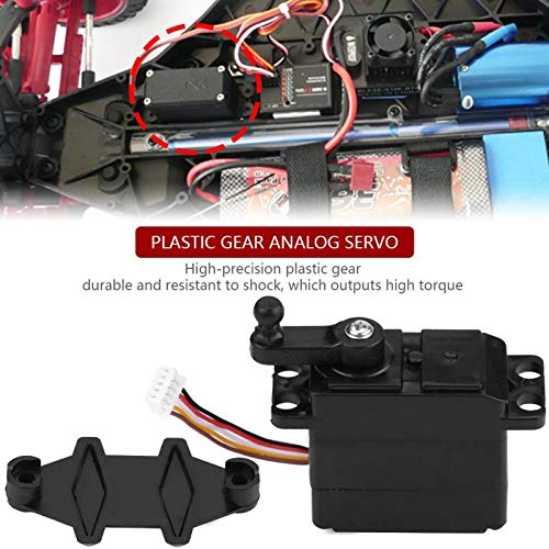 (Yoton Accessories Mini Size Light Weight 25-ZJ04 5-Wire Steering Analog Servo Plastic Gear for XLH 9125 REMO HBX 1/10 1/16 RC Truck Truggy)