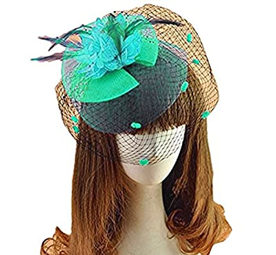 Fascinator Hairclip Veil Cocktail Tea Party Church Headwear Bridal Headpiece