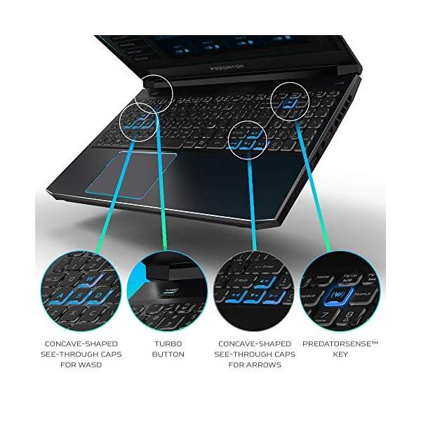 "Acer Predator Helios 300 Gaming Laptop, Intel Core i5-9300H, GeForce GTX 1660 Ti, 15.6"" Full HD 120Hz Display, 3ms Response Time, 8GB DDR4, 512GB PCIe NVMe SSD, Backlit Keyboard, PH315-52-588F,Black 6"