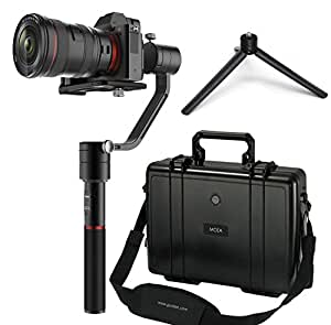 GUDSEN MOZA Air Handheld Stabilizer 3-Axis Camera Steadycam Video Gimbal With Mini Tripod For Mirrorless Cameras and DSLRs.Features Support Cameras Weights between 1.1Lb/500g and 5.5Lb/2500g