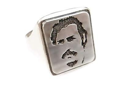 Pablo Escobar Medellín Mafia cartel Drug lord Anillo macizo ...