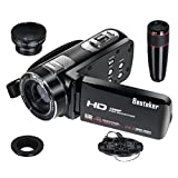Camera Camcorder, Besteker HD 1080P 24MP 16X Digital Zoom Video Camcorders with 270 Degree Rotation Screen (Z18Plus)