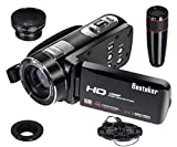 Camcorder, Besteker HD 1080P 24MP 16X Digital Zoom Video Camcorders with 270 Degree Rotation Screen (Z18Plus)