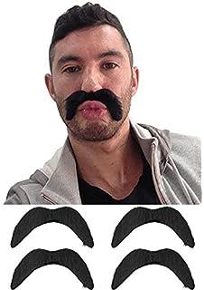 Moustache Fancy Dress Accessory Mexican Bandit Fake Tash NEW Black Cowboy