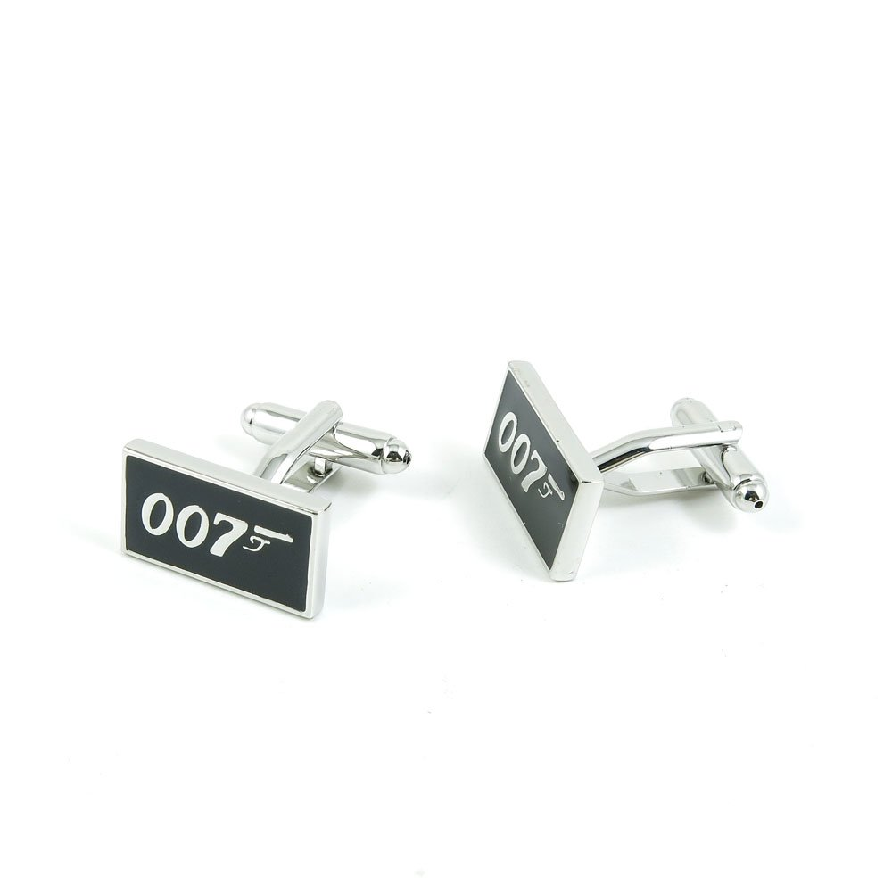 50 Pairs Cufflinks Cuff Links Fashion Mens Boys Jewelry Wedding Party Favors Gift HBN031 James Bond 007 by Fulllove Jewelry