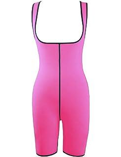 Frecoccialo Combinaison Sculptante Gainante Elastique Effet Minceur Femme  Vêtement de Sudation Sein Nu en Néoprène 397c019f104