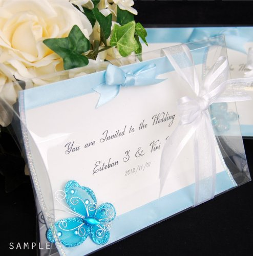 "PVC Invitation clear boxes for party favors, weddings, packaging - Pillow Shape 5.5"" x 1.5""x 7"" - 1 dozen"