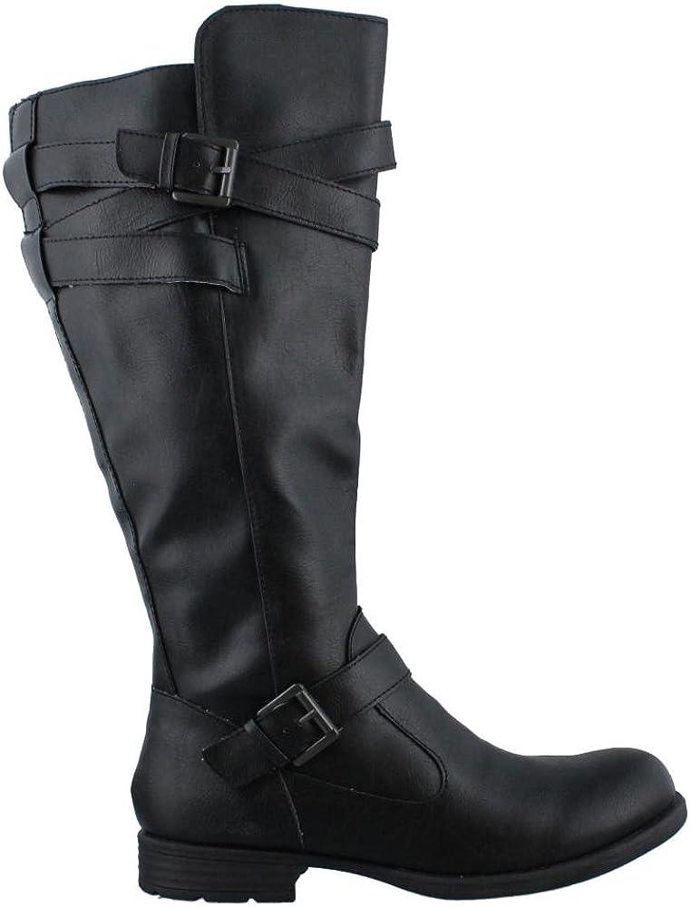 Black Size 7.0 Aria Womens Mays Round Toe Knee High Fashion Boots B.O.C