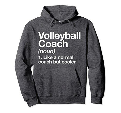Unisex Volleyball Coach Funny Definition Hoodie Trainer Gift Medium Dark Heather Coach Womens Sweatshirt