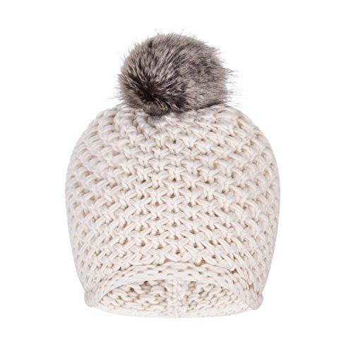 Cable Cuff Beanie (Puli Women's Winter Solid Color Knitted Beanie Hat with Pom Pom Soft Cable Knit Skull Cap Cuff Beanie)