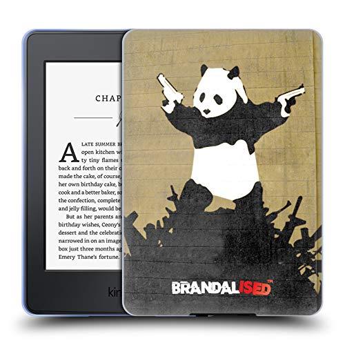Official Brandalised Panda Guns Banksy Art Street Vandals Soft Gel Case Compatible for Kindle Paperwhite 1/2 / 3 (Banksy Kindle Case)