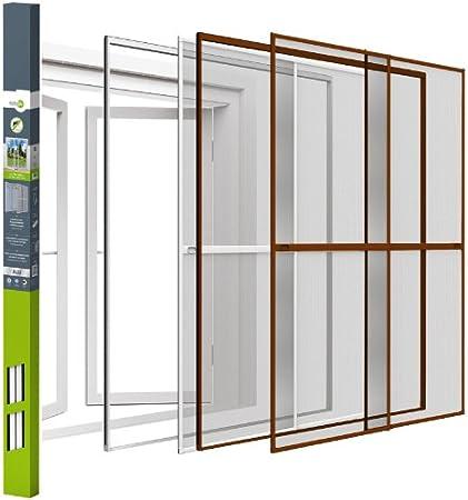 Easy Life - Doble ventana corredera de aluminio 230 x 240 cm - blanca - con aros de fijación: Amazon.es: Bricolaje y herramientas