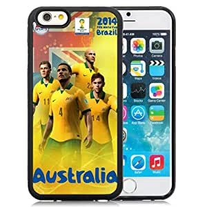 New Pupular And Unique Designed Case For iPhone 6 4.7 inch With 2014 Fifa World Cup Australia Black Phone Case
