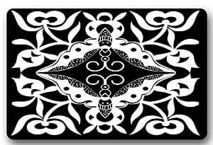 BravoVision personalizado blanco y negro mariposas decorativo antideslizante para interiores/al aire libre Felpudo
