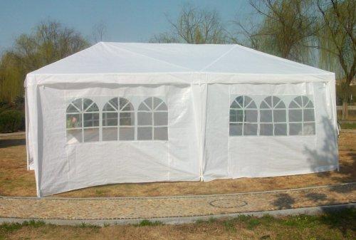 New 10'x20' Party Wedding Tent Canopy Gazebo Door Window White
