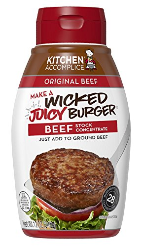 Kitchen Accomplice Wicked Juicy Burger Stock Concentrate, Beef, 12 oz (The Best Burger Sauce)