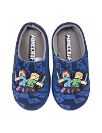 Vanilla Underground Minecraft Surrounded Boy's Slippers