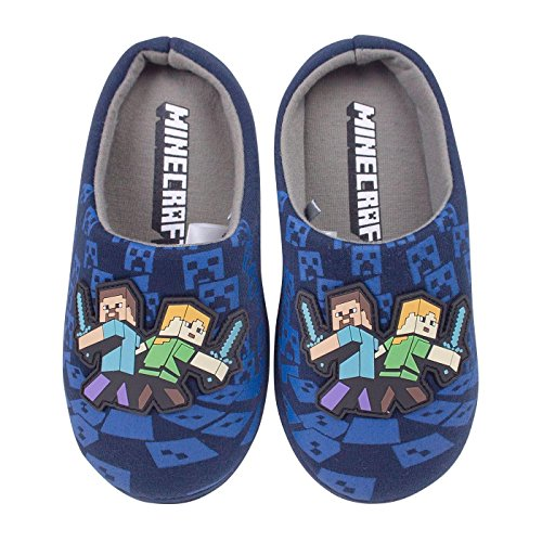 Minecraft Surrounded Boy's Slippers