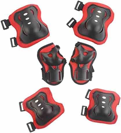 6Pcs Childs Kids Roller Elbow Wrist Knee Pads Blades Protective Gear for Skateboard Biking Skates Skating