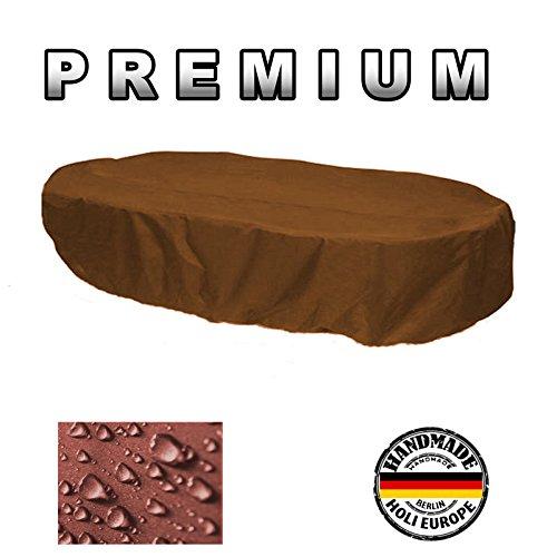 Holi Europe Premium Abdeckung Gartenmöbel Schutzhülle OVAL 165cm x 110cm x 70cm Kaffee Latte