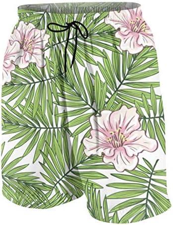 キッズ ビーチパンツ アロハ ハワイのヤシの葉 花柄 サーフパンツ 海パン 水着 海水パンツ ショートパンツ サーフトランクス スポーツパンツ ジュニア 半ズボン ファッション 人気 おしゃれ 子供 青少年 ボーイズ 水陸両用