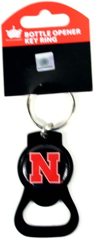 NCAA Nebraska Cornhuskers Blackout Series Bottle Opener Keychain