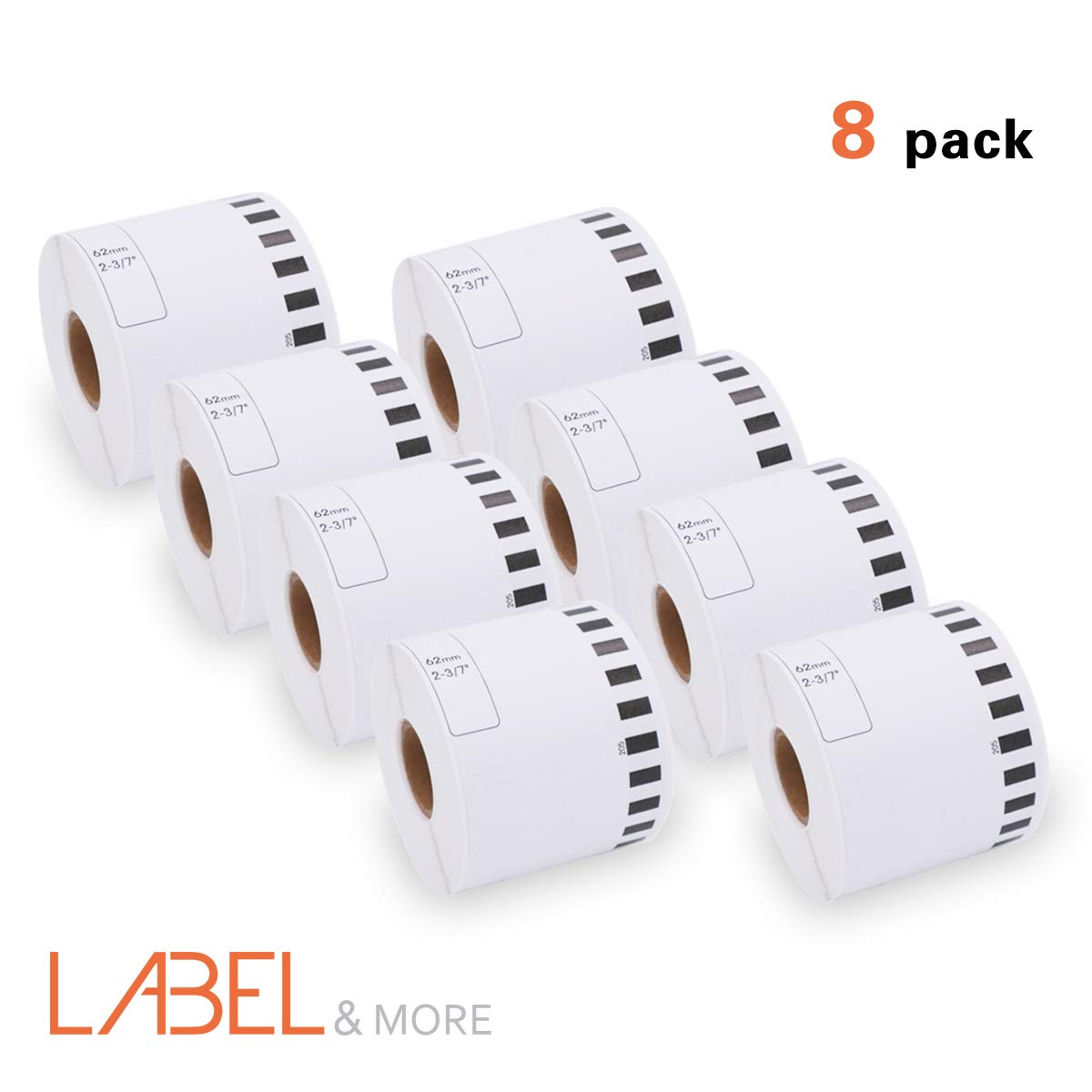 DK 1202 Label Roll Brother Die-Cut Shipping Label Compatible Standard Address Shipping Labels 2-3/7 x 4 for Brother P-Touch QL-Series QL-700 ql-710W QL-720NW QL-570 QL-810W [12 Rolls, 3600Labels] BK