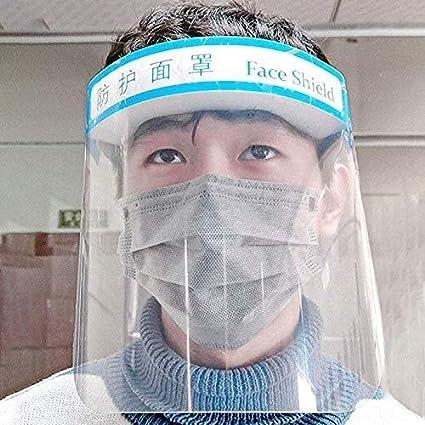 Slyabz Careta de protección Reutilizable Seguridad Proteger los Ojos y la Cara de Protect peligros de Virus con Protector Transparente de la película Banda elástica y Esponja de la Comodidad