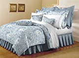 Mellanni Bed Sheet Set - HIGHEST QUALITY Brushed Microfiber 1800 Bedding - Wrinkle, Fade, Stain Resistant - Hypoallergenic - 4 Piece (Full, Paisley Blue)
