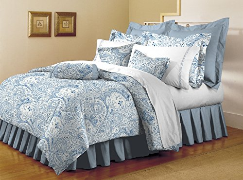Mellanni Bed Sheet Set - HIGHEST QUALITY Brushed Microfiber 1800 Bedding - Wrinkle, Fade, Stain Resistant - Hypoallergenic - 3 Piece (Twin, Paisley Blue) (Bed Linen Paisley)