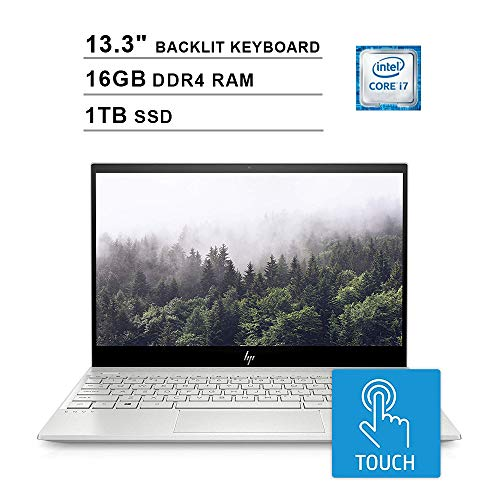 2020 HP Envy 13.3 Inch 4K IPS Touchscreen Laptop (Intel Quad Core i7-8565U up to 4.6 GHz, 16GB RAM, 1TB PCIe SSD, NVIDIA GeForce MX250, Backlit Keyboard, WiFi, Bluetooth, HDMI, Windows 10 Home)