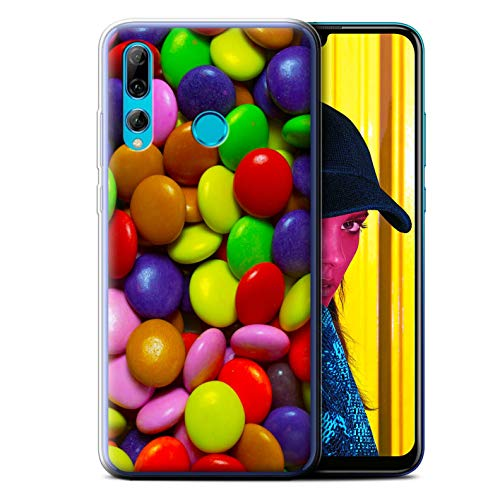 (eSwish Gel TPU Phone Case/Cover for Huawei P Smart+ 2019/Honor 20 Lite/Smarties Design/Sweets & Candy Collection)