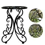 L;IAN Plant Stand - Artificial Flower Pot Rack Iron European Potted Plant Holder for Garden Decor Indoor Outdoor Plant Storage - 13.4 x 9.8 Inches (Color : Black)