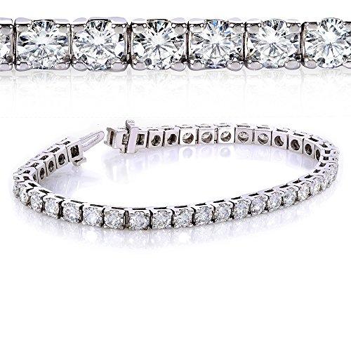 Bracelet tennis avec zircons ronds en or 9(ctw) 10carats en or blanc 10K