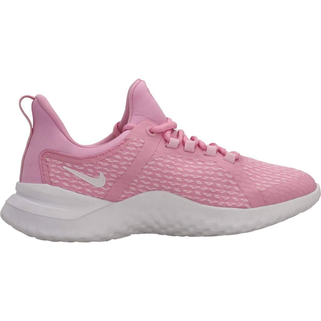 Nike Girls Renew Rival Running Shoe Pink Rise//White//Pink Foam Size 5.5 M US