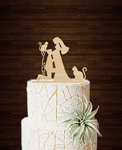 9bc5cbbb810 Funny Wedding Cake Toppers novio Kiss embarazadas novia ...