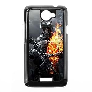 HTC One X Cell Phone Case Black Battlefield 3 Skulls Fire OJ395645