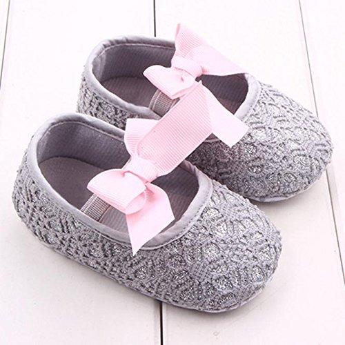 Hunpta Neue Baby jungen Mädchen Glitter Baby Schuhe Sneaker Anti-Rutsch weiche Sohle Kleinkind (13, Weiß) Gray
